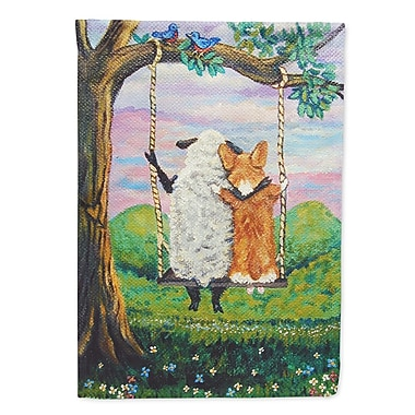 Caroline's Treasures Corgi w/ Sheep Love Grows 2-Sided Garden Flag