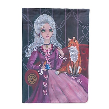 Caroline's Treasures Tea Time Fox 2-Sided Garden Flag