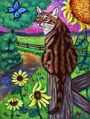 Caroline's Treasures Bengal Cat 2-Sided Garden Flag