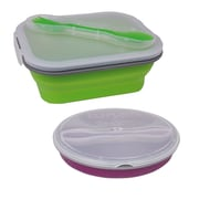 Imperial Home 4 Piece Bento Box Lunch Food Storage Container Set