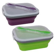 Imperial Home 4 Piece Sandwich Box Lunch Container Set