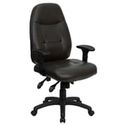 Offex High-Back Leather Desk Chair; Espresso Brown