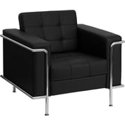Offex Hercules Lesley Series Leather Reception Chair; Black