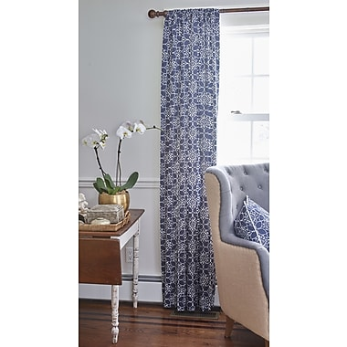 County Road Charleston Blackout Single Curtain Panel; 54'' W x 120'' L