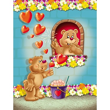 Caroline's Treasures Teddy Bear Romeo and Juliet Love 2-Sided Garden Flag