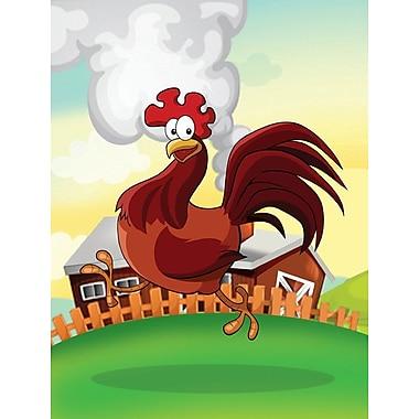 Caroline's Treasures Rooster Chicken on the Run 2-Sided Garden Flag
