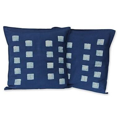 Novica Exotic Indigo Cotton Batik Cotton Pillow Cover (Set of 2)