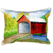 Betsy Drake Interiors Dick's Covered Bridge Indoor/Outdoor Lumbar Pillow; Small
