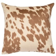 Wooded River Faux Hair on Hide Throw Pillow; Udder Cream