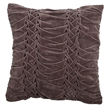 Wildon Home Chasidy 100pct Cotton Throw Pillow; Dark Taupe