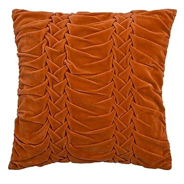 Wildon Home Chasidy 100pct Cotton Throw Pillow; Orange