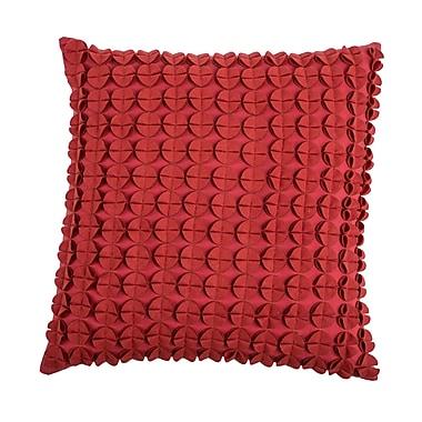 Wildon Home Denice Throw Pillow; Red