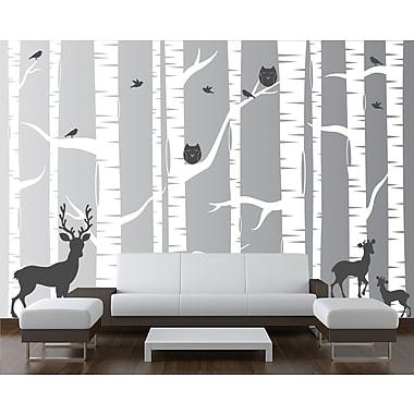 Innovative Stencils 22 Piece Birch Tree Wall Decal Set; 108'' H x 144'' W