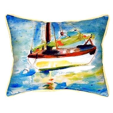 Betsy Drake Interiors Sailboat Indoor/Outdoor Lumbar Pillow; Large