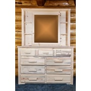 Loon Peak Abella Deluxe Dresser Mirror; Ready To Finish