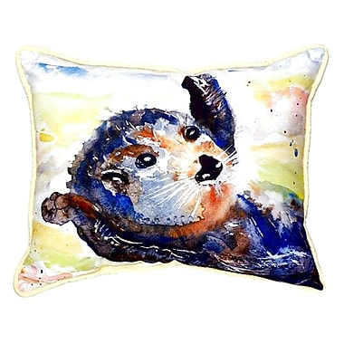 Betsy Drake Interiors Otter Indoor/Outdoor Lumbar Pillow; Large