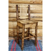 Loon Peak Tustin 30'' Wooden Cabin Bar Stool