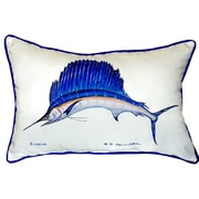 Betsy Drake Interiors Sailfish Indoor/Outdoor Lumbar Pillow