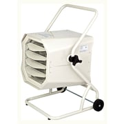 10,000 Watt Wall Mounted Electric Forced Air Heater w/ Cart and Adjustable Thermostat