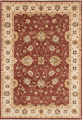 ECARPETGALLERY One-of-a-Kind Chobi Twisted Hand-Knotted Burgundy Area Rug