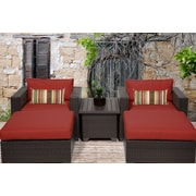 TK Classics Belle 5 Piece Seating Group w/ Cushion; Terracotta