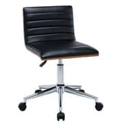 Antique Revival Alyson Low-Back Desk Chair; Black