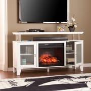 Latitude Run Kastel Media Infrared Electric Fireplace; White