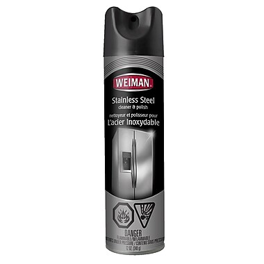 Weiman – Nettoyant et polisseur en aérosol pour acier inoxydable, 6/paquet
