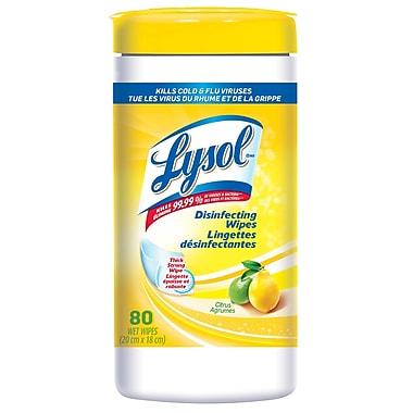 Lysol – Lingettes désinfectantes, agrumes, 80 unités, 6/paquet