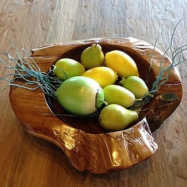 ChicTeak Teak Hand Carved Decorative Bowl