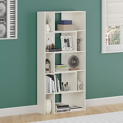 Cosco Elements Loft Bed with 3 Drawer Dresser and Toy Box Bookcase with Door, White (5859015P)