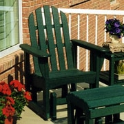POLYWOOD  Adirondack Glider Chair; Hunter Green