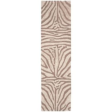 Bloomsbury Market Abboud Brown Zebra Outdoor Rug; Runner 2' x 8'