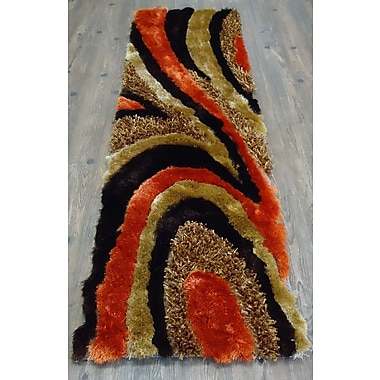 Rug Factory Plus Hand-Tufted Brown/Orange Area Rug
