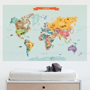 SimpleShapes Countries of the World Map Poster Wall Decal; Large