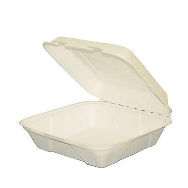 Eco Guardian – Contenants double coque en bagasse compostable, 9 x 9 x 3 (po), paq./200 (EG-N-C025)
