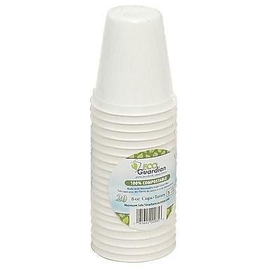 Eco Guardian – Tasses en bagasse compostable, pour vente au détail, 8 oz, paq./480 (EG-N-K051-S20)