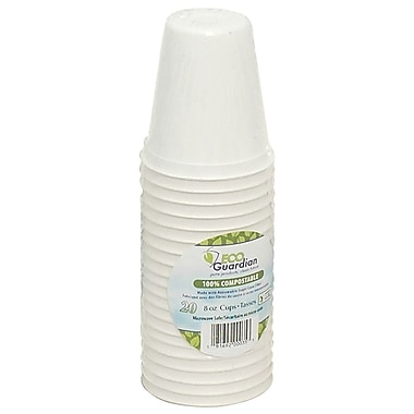 Eco Guardian Compostable Bagasse Cups, 8 oz, 480/Pack (EG-N-K051-S20)