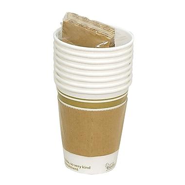 Eco Guardian – Tasses en papier compostable avec manchons, pour vente au détail, 12 oz, paq./64 (EG-PL-K12-S08-L)