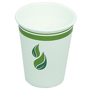 Eco Guardian Compostable PLA-Lined Hot Drink Paper Cups, 8 oz, 1000/Pack (EG-P-PL-K08-W50)