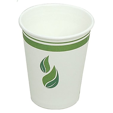 Eco Guardian Compostable PLA-Lined Hot Drink Paper Cups, 10 oz, 1000/Pack (EG-P-PL-K10-W50)