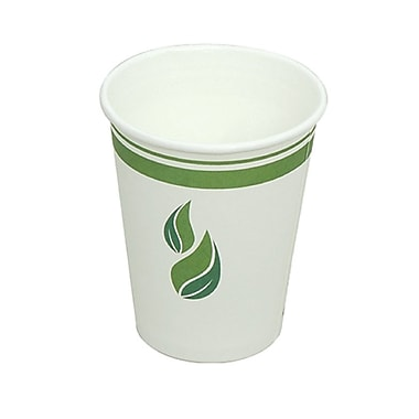 Eco Guardian Compostable PLA-Lined Hot Drink Paper Cups, 12 oz, 1000/Pack (EG-P-PL-K12-W50)
