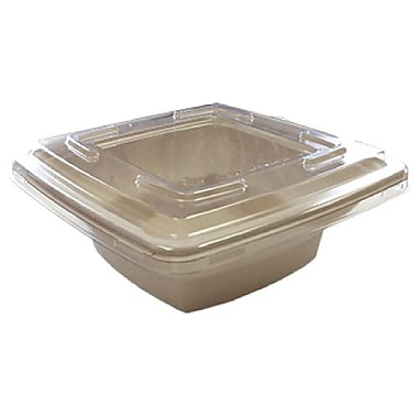 Eco Guardian Clear Recyclable Lids for 28 oz Square Bowls, 300/Pack (EG-S119-LID)
