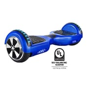 Gyrocopters PRO 2.0 Hoverboard with Bluetooth Speaker, APP, LED Lights, No Fall Technology and UL2272 Certified, Blue