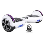 Gyrocopters PRO 2.0 Hoverboard with Bluetooth Speaker, APP, LED Lights, No Fall Technology and UL2272 Certified, White