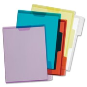 "Pendaflex Flap Lock Translucent Project Jacket, Letter, 8 1/2"" x 11"" Sheet Size, Polypropylene, Assorted Colors, 5/Pack"