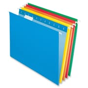 Pendaflex 2-tone Color Hanging File Folders, Letter Sheet Size, 1/5 Tab Cut, 11 pt. Folder Thickness, Assorted, 25/Box