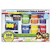RoseArt Washable Sidewalk Chalk Paint Super Set, 8/Pack, Assorted