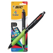 BIC 4-Colours Stylus, 1 mm Point Size, Refillable, Blue, Black, Red, Green