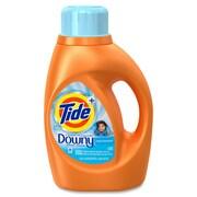 Downy Plus Detergent, Liquid Solution, 0.36 gal (46 fl oz), Clean Breeze ScentBottle, 6/Carton, Orange (PGC87458CT)